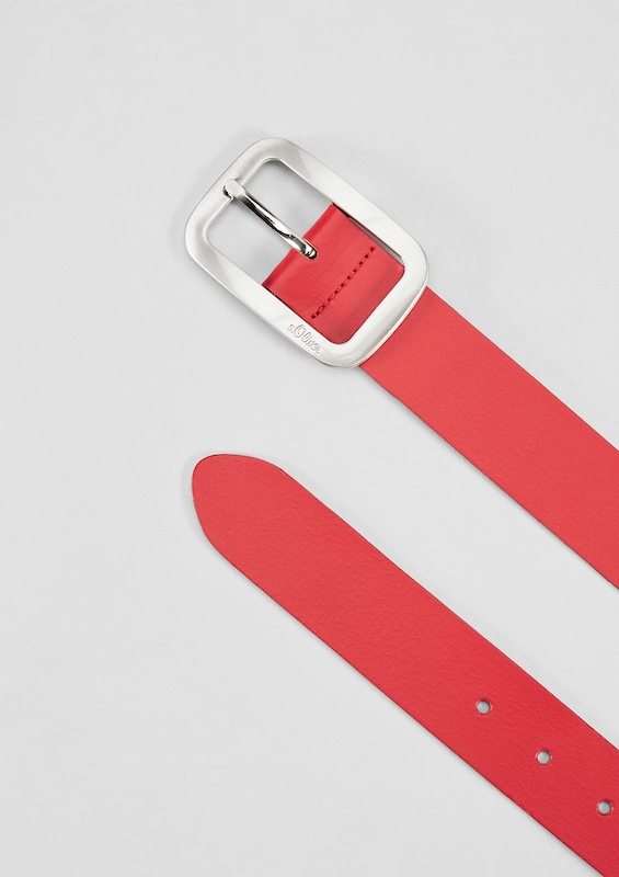 s.Oliver RED LABEL Ledergürtel mit Metallschließe
