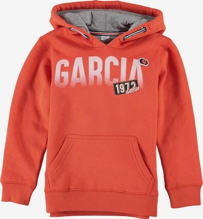 GARCIA Sweatshirt in grau / dunkelorange / schwarz / weiß, Produktansicht