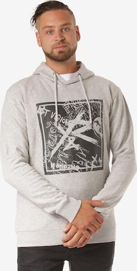 Young & Reckless Kapuzenpullover 'Square Logo Griffon' in grau, Produktansicht