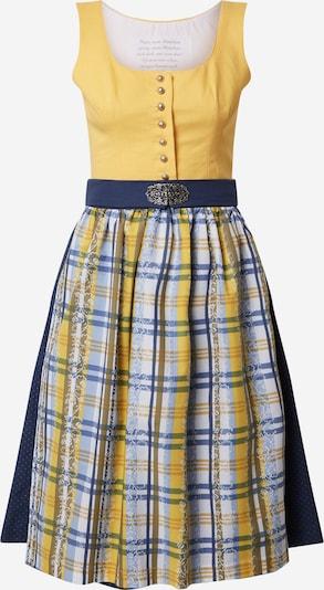 MONDKINI Dirndl 'Antoinette' in pastellblau / dunkelblau / gelb, Produktansicht