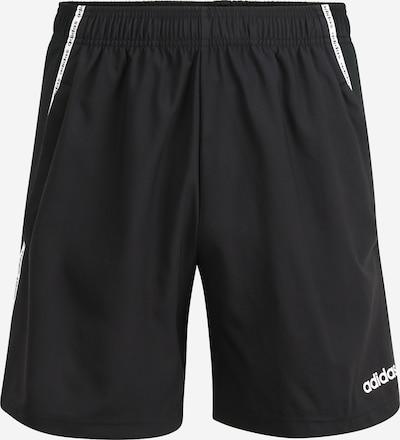 Pantaloni sport 'M D2M MIX SHORT' ADIDAS PERFORMANCE pe negru / alb, Vizualizare produs