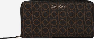 Calvin Klein Portemonnaie 'MONO ZIPAROUND LG' in braun / dunkelbraun, Produktansicht