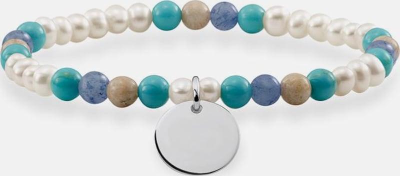 Thomas Sabo Armband 'Blau, Weiss, Coin, LBA0112-200-7-L'