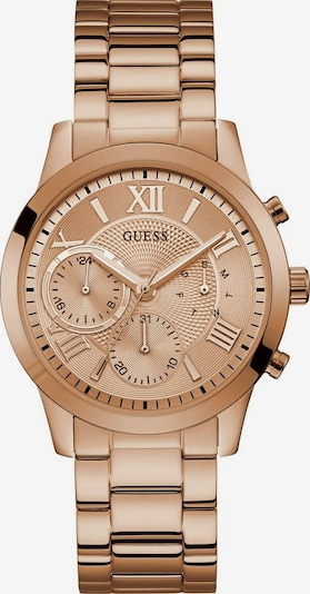 GUESS Multifunktionsuhr 'SOLAR' in rosegold: Frontalansicht