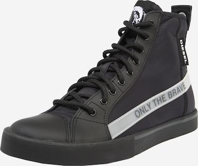 DIESEL Sneakers hoog 'VELOWS' in de kleur Lichtgrijs / Grijs gemêleerd / Zwart, Productweergave