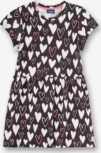 Sanetta Kidswear Kleid in dunkelgrau / pastellgrün / pink / weiß, Produktansicht