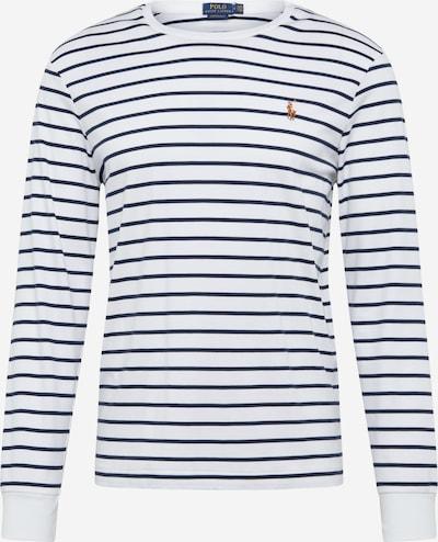 POLO RALPH LAUREN Shirt 'PIMA' in de kleur Navy / Wit: Vooraanzicht