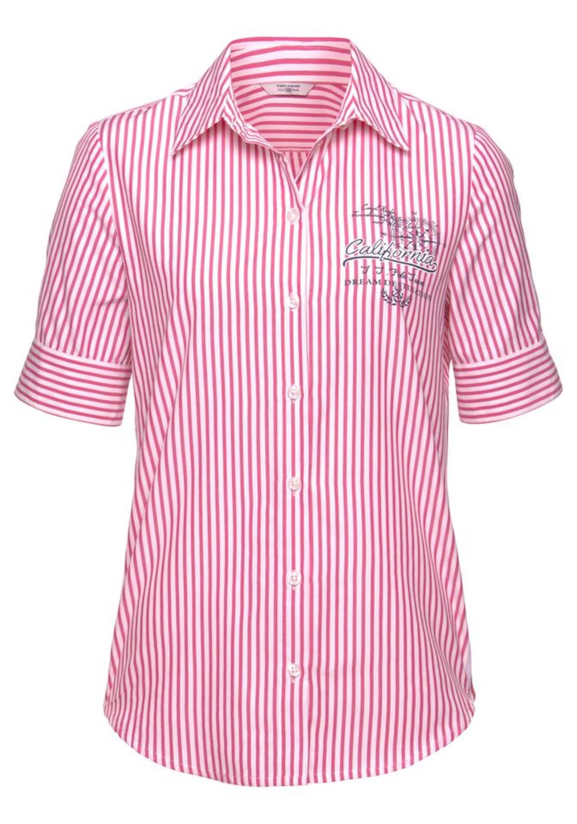 Tom In Hemdbluse Tailor Polo Team Pink 7Y6Ifgybv