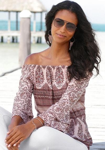 LASCANA Bluza u miks boja / prljavo roza, Prikaz modela