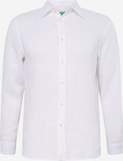 UNITED COLORS OF BENETTON Overhemd in de kleur Wit: Vooraanzicht