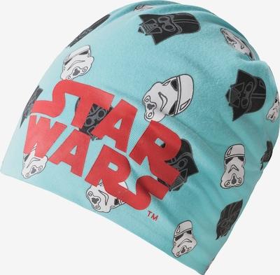 STAR WARS Beanie in türkis / rot / schwarz, Produktansicht