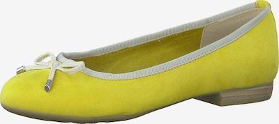 MARCO TOZZI Ballerines en jaune, Vue avec produit