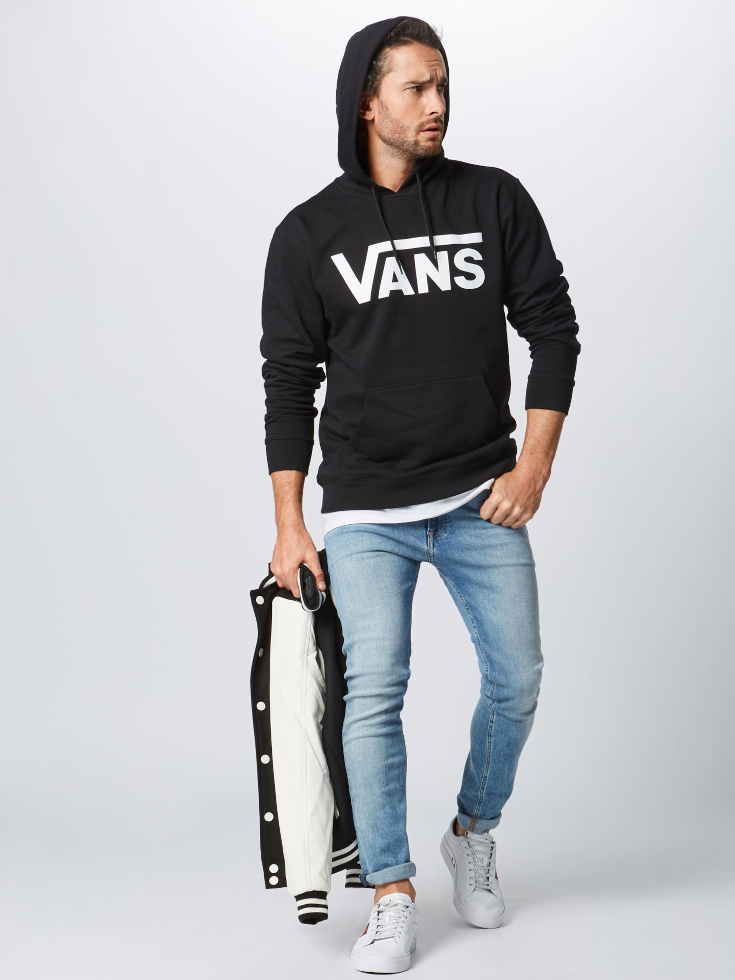 shirt En Vans Noir Sweat 80OknwP