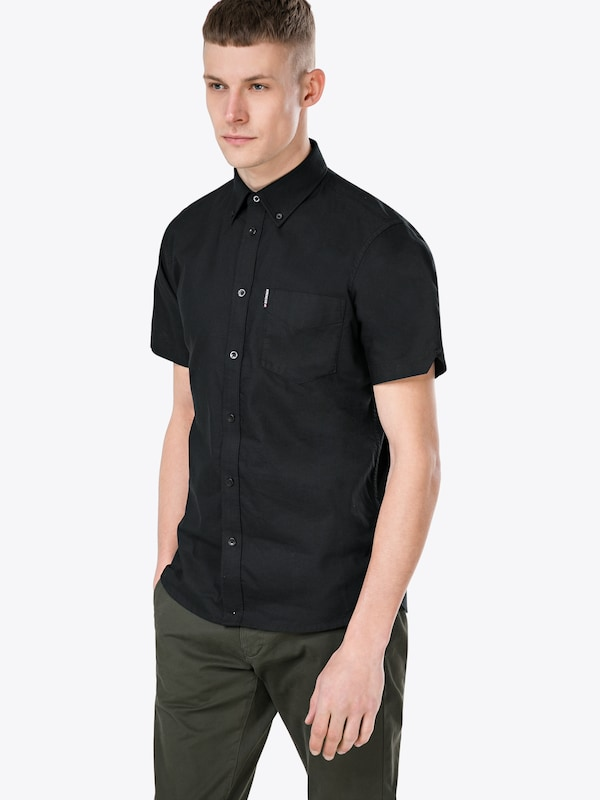 ben sherman hemd 39 ss core oxford shirt 39 in schwarz about you. Black Bedroom Furniture Sets. Home Design Ideas