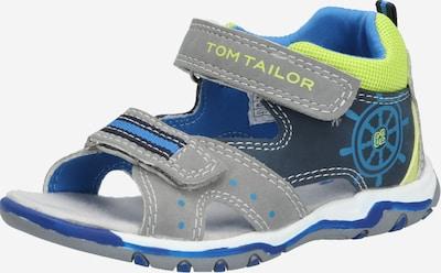 TOM TAILOR Schuhe in navy / grau / limette, Produktansicht