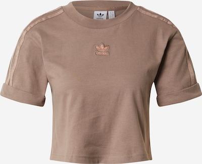 ADIDAS ORIGINALS T-shirt en chocolat, Vue avec produit