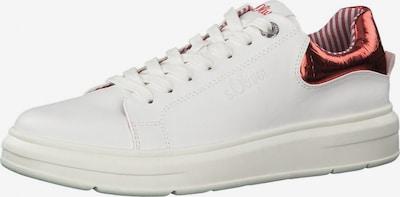 s.Oliver Niske tenisice 'Da.-Sneaker' u crvena / bijela, Pregled proizvoda