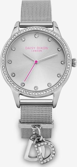 DAISY DIXON Uhr in dunkelpink / silber / transparent, Produktansicht