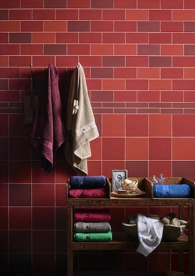 TOMMY HILFIGER Handtücher 2tlg. in rot, Produktansicht