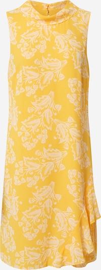 COMMA Šaty - žlutá / bílá: Pohled zepředu