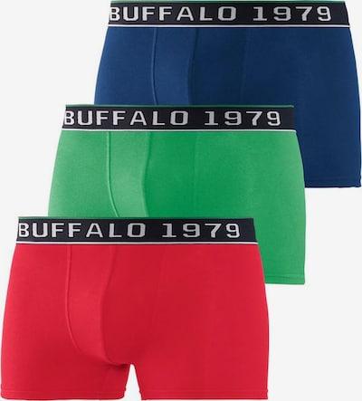 BUFFALO Boxershorts in dunkelblau / grün / rot, Produktansicht