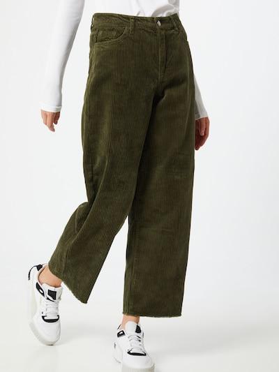 JACQUELINE de YONG Broek 'Kira' in de kleur Donkergroen, Modelweergave