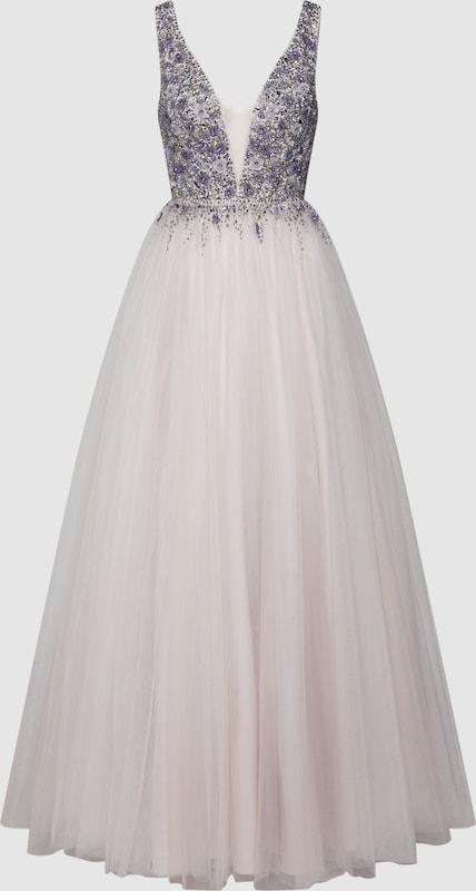 Unique Abendkleid Abendkleid Abendkleid in beige   silbergrau  Große Preissenkung 860907