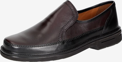 SIOUX Slipper 'Michael' in bordeaux / schwarz: Frontalansicht