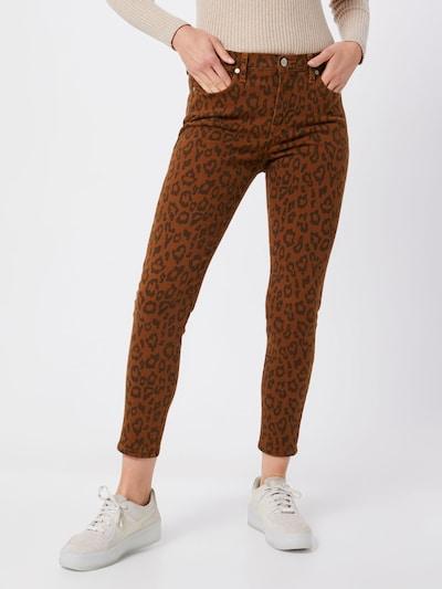 Banana Republic Jeans 'MR LEOPARD' in rostbraun / schwarz, Modelansicht