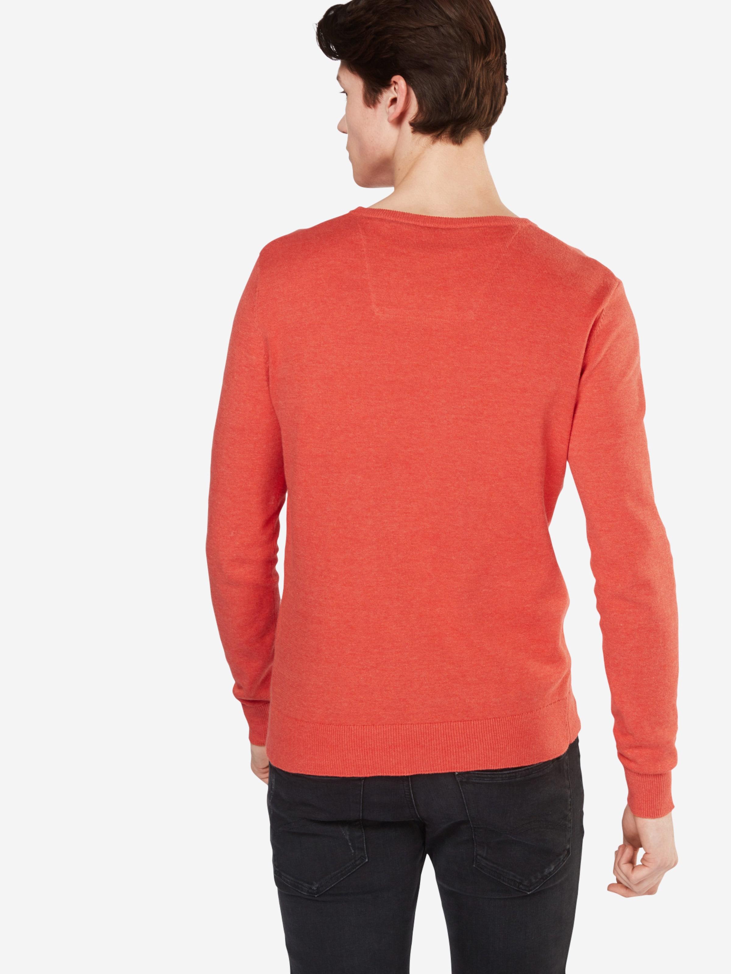 TOM TAILOR Pullover 'basic crew-neck sweater' Online Einkaufen Aus Deutschland Günstigem Preis Billigpreisnachlass Authentisch FX3EV