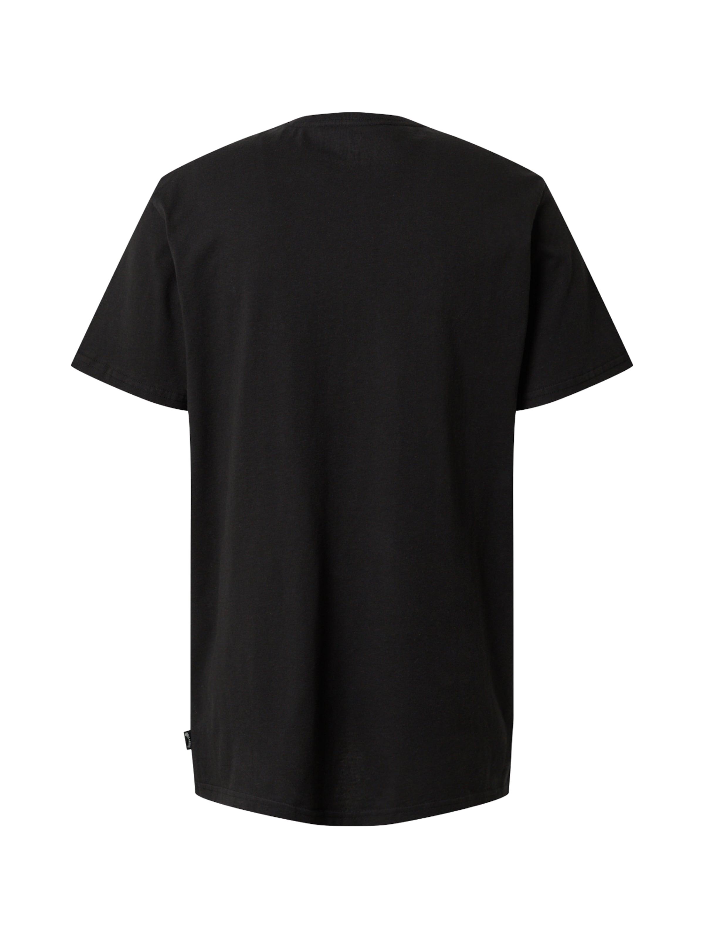 BILLABONG Shirt 'Trademark' in schwarz / weiß Logoprint BIL0868002000001