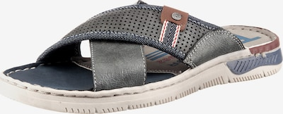 TOM TAILOR Pantolette in blue denim / grau, Produktansicht