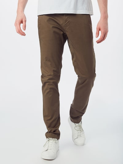 Tommy Jeans Chinohose in braun, Modelansicht