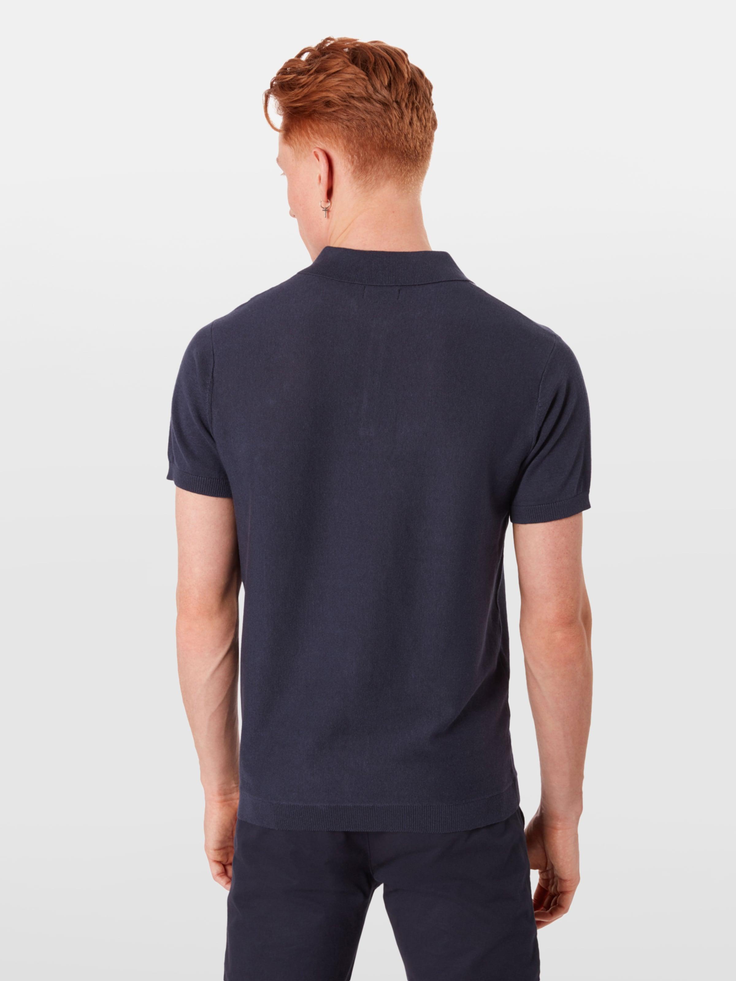 Jones 'sean' En FoncéBlanc T Bleu shirt Jackamp; 34qjALR5