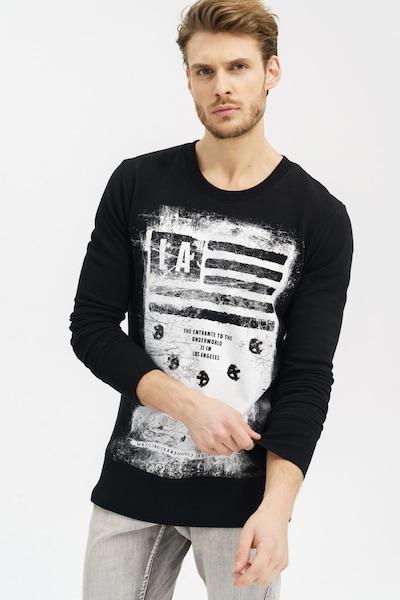 trueprodigy Langarmshirt 'Khal' in schwarz / weiß, Produktansicht