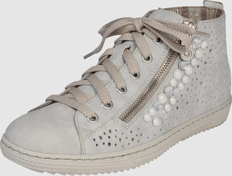 RIEKER | Sneaker 'High' mit Strass und Perlen