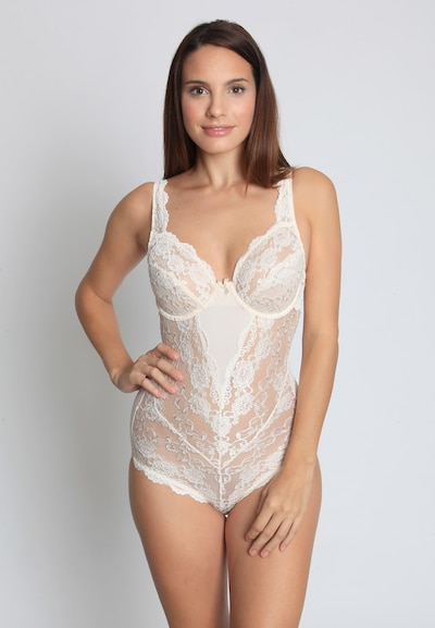 sassa Body 'CLASSIC LACE' in perlweiß: Frontalansicht