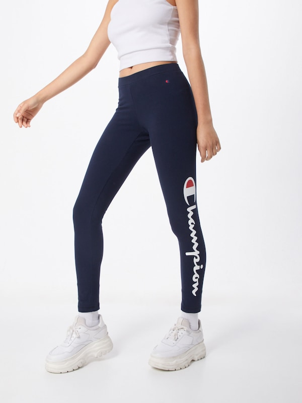 Champion Authentic Athletic Apparel Leggings in navy / rot / weiß, Modelansicht