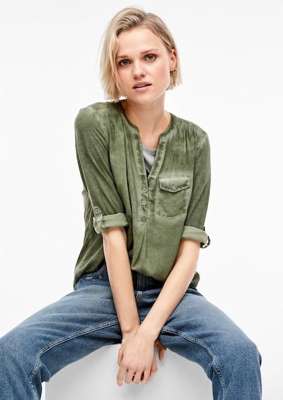 Q/S designed by Shirt in khaki, Modelansicht