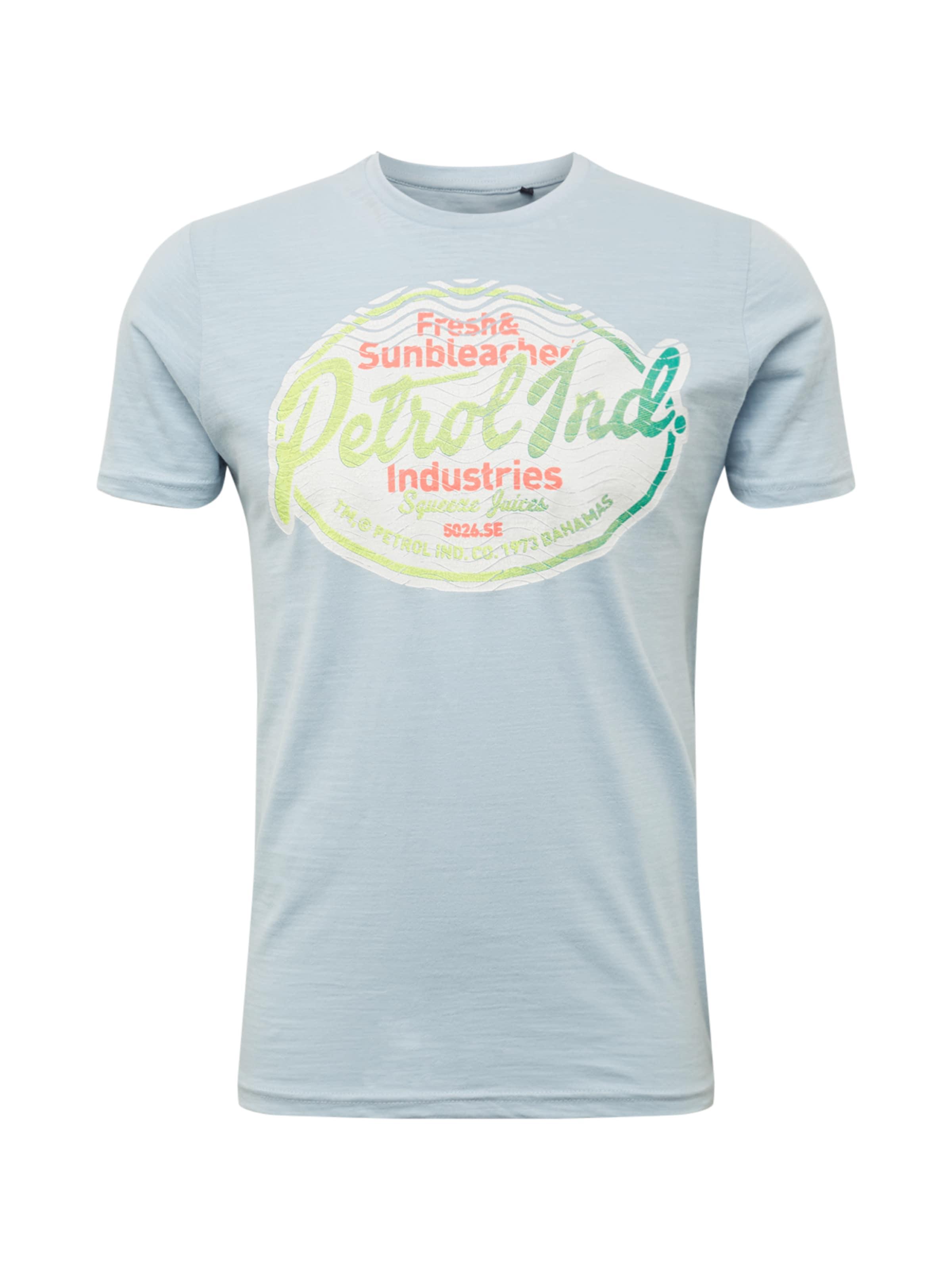 shirt ClairMélange T En Bleu Industries De Couleurs Petrol POXiukZ