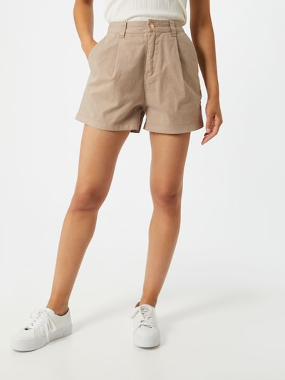 REPLAY Shorts 'Light Paper' in dunkelbeige, Modelansicht