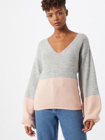 NA-KD Pullover in graumeliert / rosa, Modelansicht