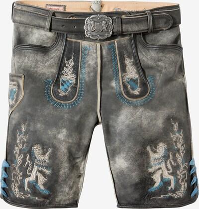 STOCKERPOINT Klederdracht broek 'Bayern Bua' in de kleur Beige / Duifblauw / Grijs, Productweergave