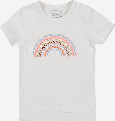 STACCATO T-Shirt en mélange de couleurs / blanc: Vue de face