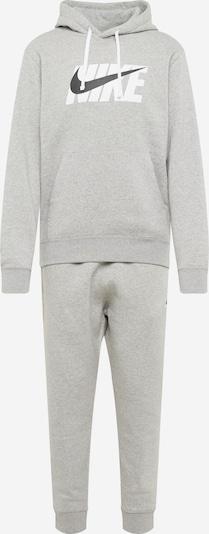 Nike Sportswear Tenue d'intérieur en gris / noir / blanc, Vue avec produit