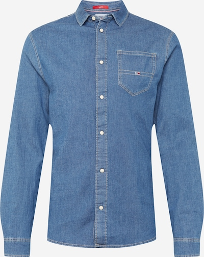 Tommy Jeans Hemd in blue denim, Produktansicht