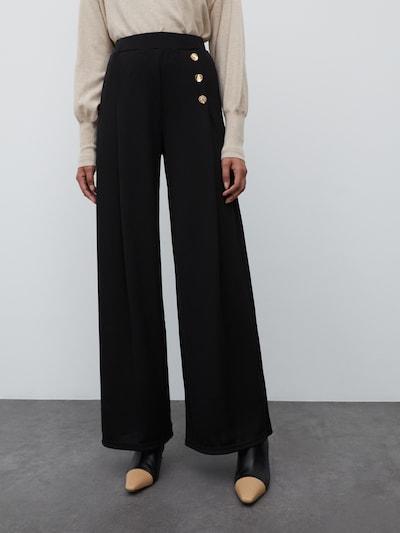 EDITED Hose 'Jamie' in schwarz, Modelansicht