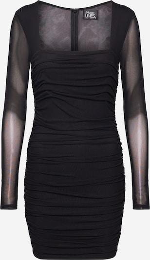 Rochie de seară Parallel Lines pe negru, Vizualizare produs