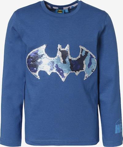 Batman Langarmshirt in blau / silber, Produktansicht
