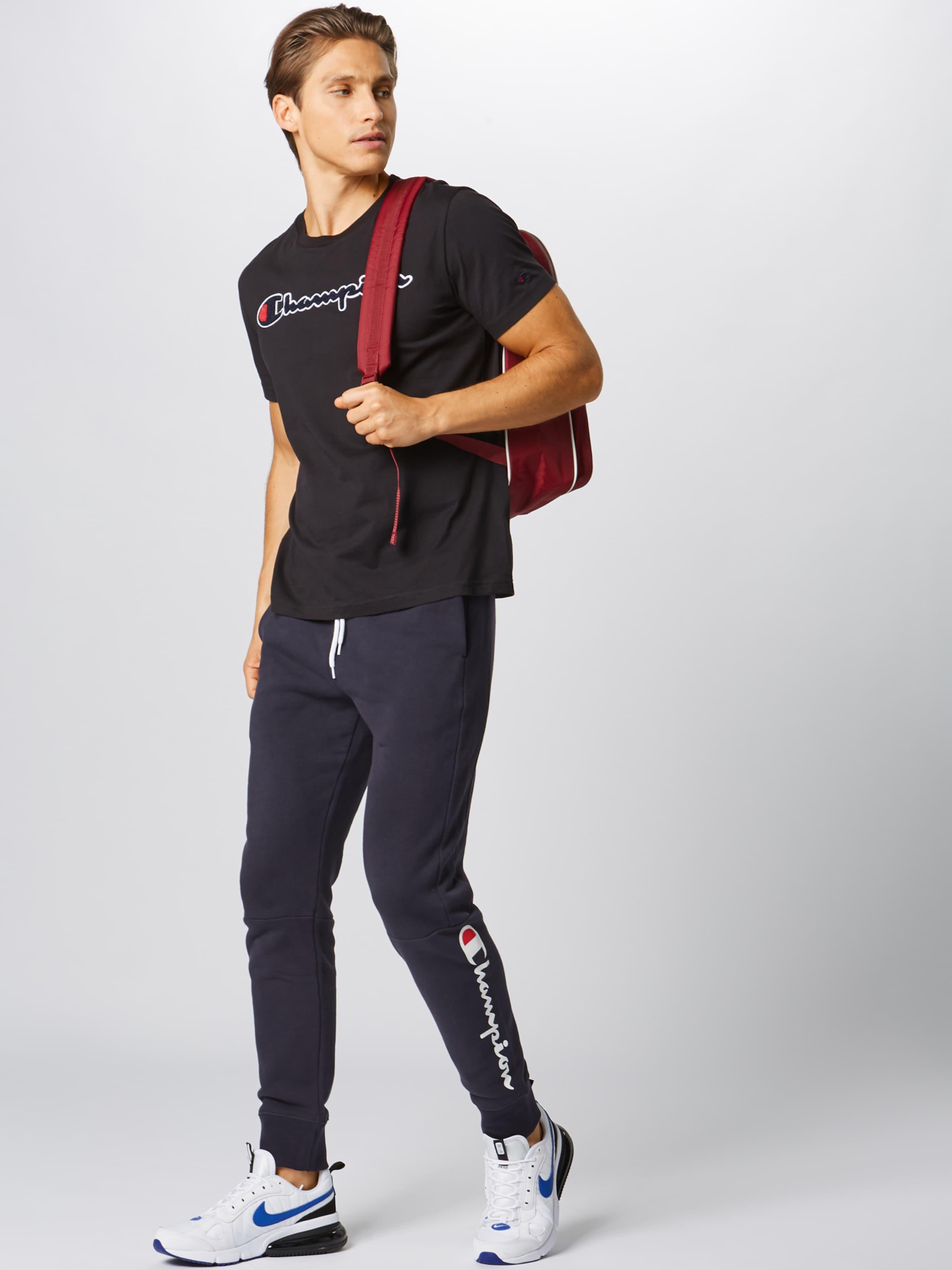 Shirt Schwarz Apparel 'crewneck' In Authentic Champion Athletic QsdhrxCt